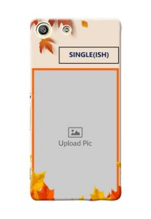 Sony Xperia M5 Dual autumn maple leaves backdrop Design