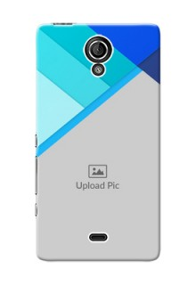 Sony Xperia T (LT30p) Blue Abstract Mobile Cover Design