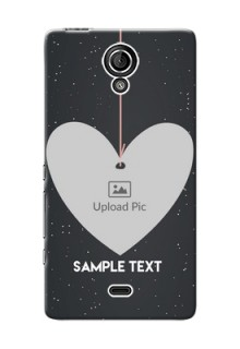 Sony Xperia T (LT30p) Hanging Heart Mobile Back Case Design