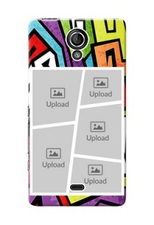 Sony Xperia T (LT30p) 5 image holder with stylish graffiti pattern Design