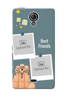 Sony Xperia T (LT30p) 3 image holder with sticky frames and friendship day wishes Design