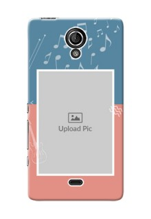 Sony Xperia T (LT30p) 2 colour backdrop with music theme Design
