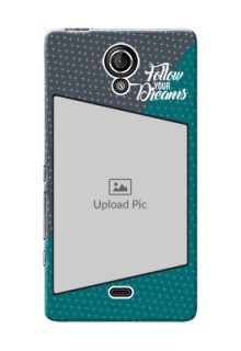 Sony Xperia T (LT30p) 2 colour background with different patterns and dreams quote Design