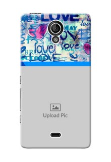 Sony Xperia T LTE (LT30a) Colourful Love Patterns Mobile Case Design