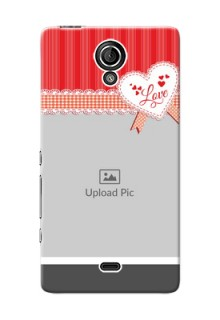 Sony Xperia T LTE (LT30a) Red Pattern Mobile Cover Design