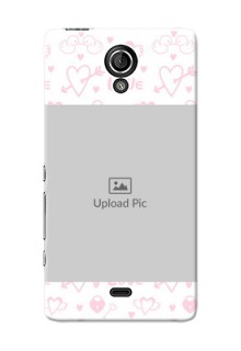 Sony Xperia T LTE (LT30a) Flying Hearts Mobile Back Cover Design