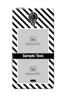 Sony Xperia T LTE (LT30a) 2 image holder with black and white stripes Design