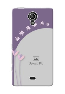 Sony Xperia T LTE (LT30a) lavender background with flower sprinkles Design Design