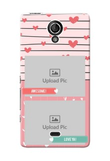 Sony Xperia T LTE (LT30a) 2 image holder with hearts Design