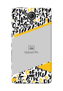 Sony Xperia T LTE (LT30a) 2 image holder with letters pattern  Design