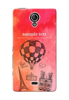 Sony Xperia T LTE (LT30a) abstract painting with paris theme Design