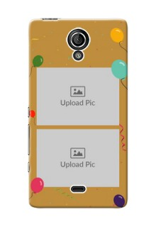 Sony Xperia T LTE (LT30a) 2 image holder with birthday celebrations Design