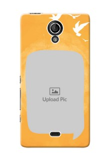 Sony Xperia T LTE (LT30a) watercolour design with bird icons and sample text Design Design