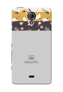 Sony Xperia T LTE (LT30a) stylish floral side Design