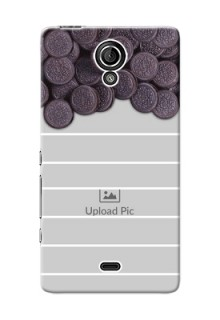 Sony Xperia T LTE (LT30a) oreo biscuit pattern with white stripes Design Design
