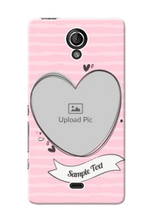 Sony Xperia T LTE (LT30a) seamless stripes with vintage heart shape Design