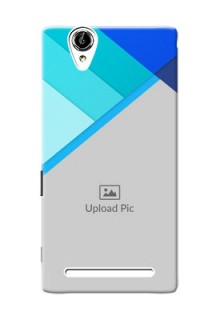 Sony Xperia T2 Blue Abstract Mobile Cover Design