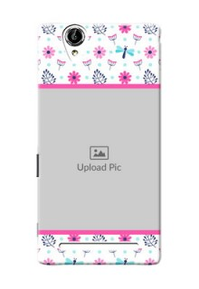 Sony Xperia T2 Colourful Flowers Mobile Cover Design