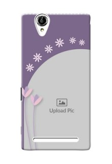 Sony Xperia T2 lavender background with flower sprinkles Design Design