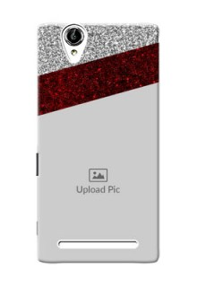 Sony Xperia T2 2 image holder with glitter strip Design
