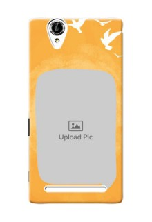 Sony Xperia T2 watercolour design with bird icons and sample text Design Design