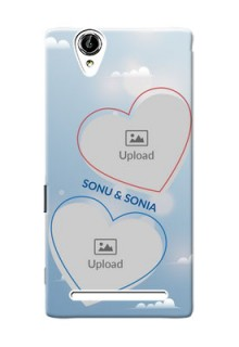 Sony Xperia T2 couple heart frames with sky backdrop Design