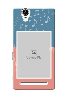 Sony Xperia T2 2 colour backdrop with music theme Design Design