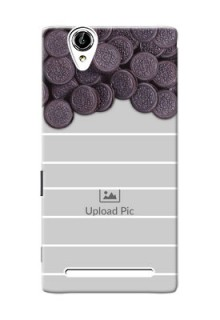 Sony Xperia T2 oreo biscuit pattern with white stripes Design Design