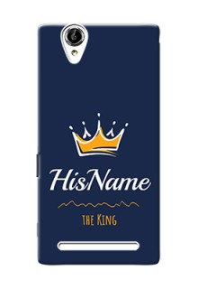 Xperia T2 King Phone Case with Name