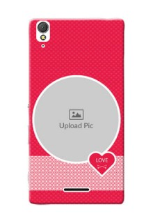 Sony Xperia T3 Pink Design Pattern Mobile Case Design