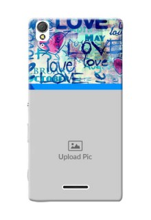 Sony Xperia T3 Colourful Love Patterns Mobile Case Design