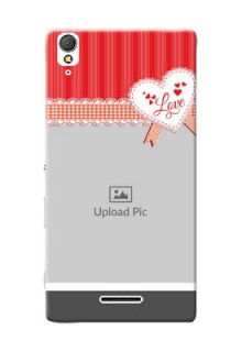 Sony Xperia T3 Red Pattern Mobile Cover Design