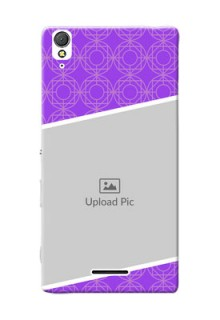 Sony Xperia T3 Violet Pattern Mobile Case Design