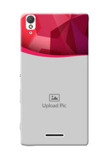 Sony Xperia T3 Red Abstract Mobile Case Design