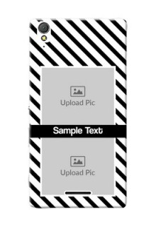 Sony Xperia T3 2 image holder with black and white stripes Design