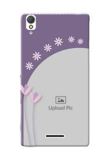 Sony Xperia T3 lavender background with flower sprinkles Design Design