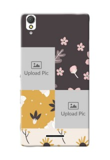 Sony Xperia T3 3 image holder with florals Design