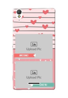 Sony Xperia T3 2 image holder with hearts Design
