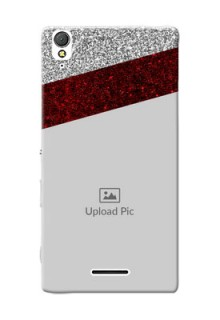 Sony Xperia T3 2 image holder with glitter strip Design