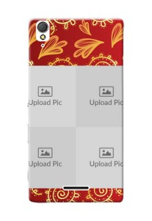 Sony Xperia T3 4 image holder with mandala traditional background Design