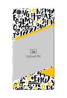Sony Xperia T3 2 image holder with letters pattern  Design