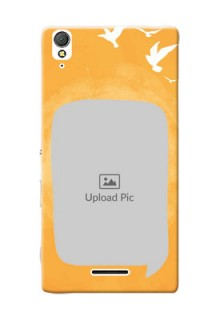 Sony Xperia T3 watercolour design with bird icons and sample text Design Design