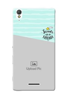 Sony Xperia T3 2 image holder with friends icon Design