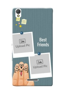 Sony Xperia T3 3 image holder with sticky frames and friendship day wishes Design