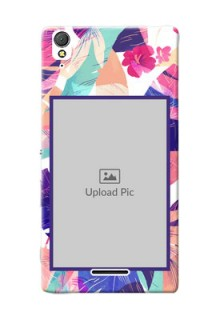 Sony Xperia T3 abstract floral Design