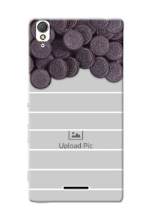 Sony Xperia T3 oreo biscuit pattern with white stripes Design Design