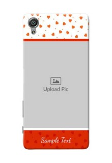 Sony Xperia X Orange Love Symbol Mobile Cover Design