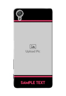 Sony Xperia X Photo With Text Mobile Case Design