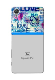 Sony Xperia X Colourful Love Patterns Mobile Case Design