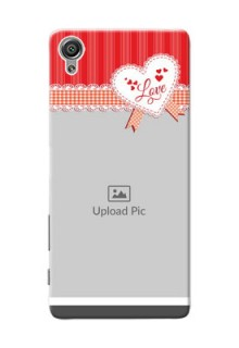 Sony Xperia X Red Pattern Mobile Cover Design